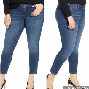 Slink Luna Curvy Mid Rise Ankle Jeggings Jeans NWT
